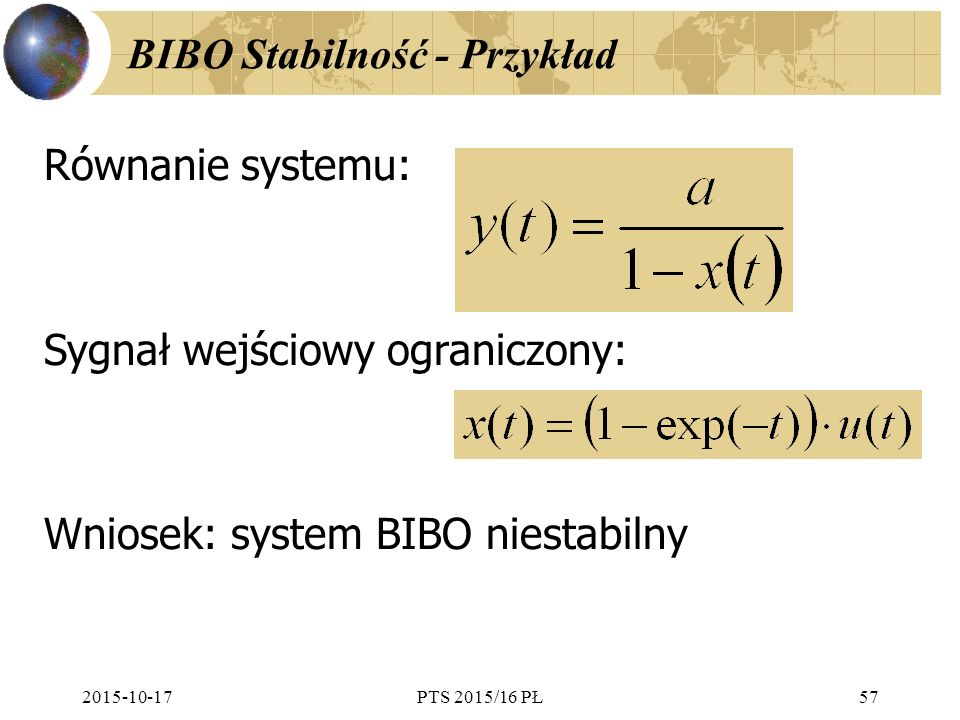 BIBO Stabilność - Przykład