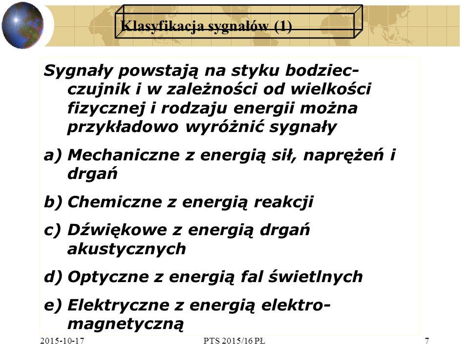 Klasyfikacja sygnałów (1)