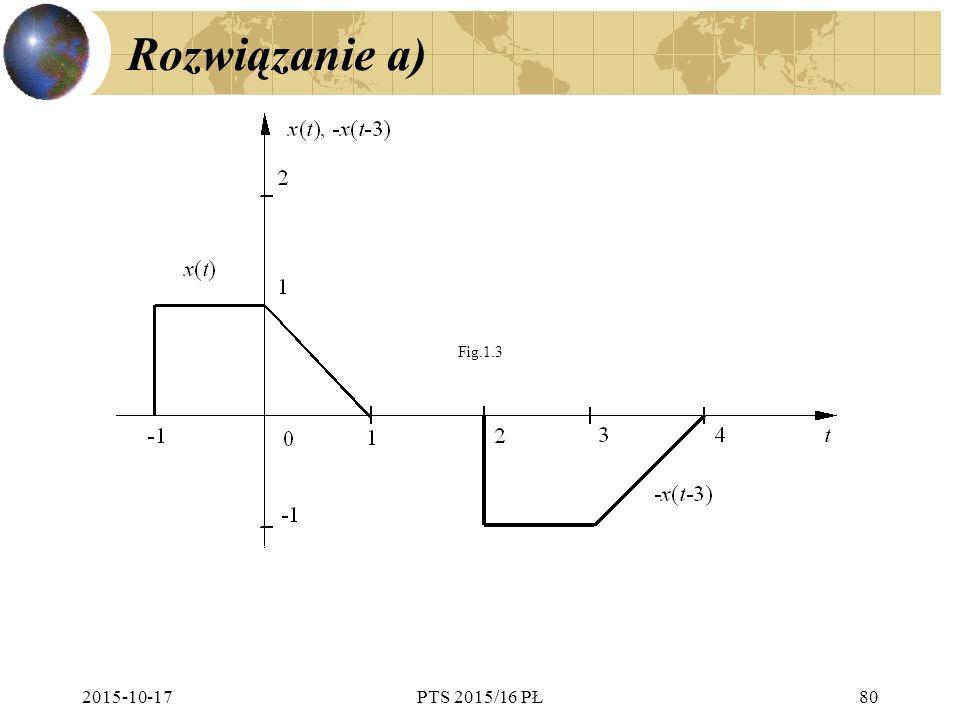 Rozwiązanie a) Fig.1.3 2017-04-24 PTS 2015/16 PŁ