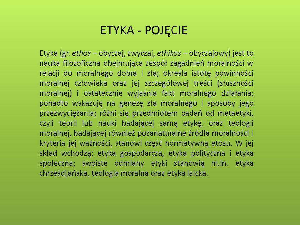 ETYKA - POJĘCIE