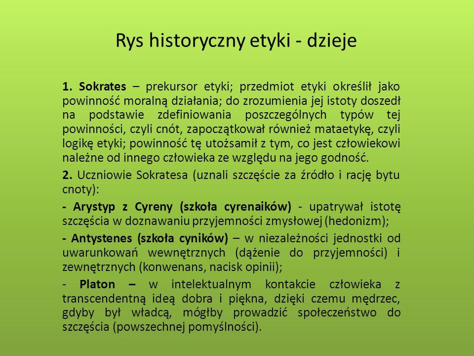 Rys historyczny etyki - dzieje