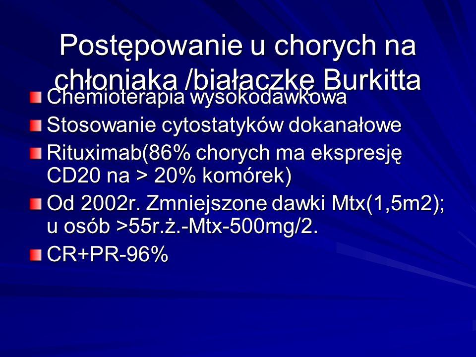 Postępowanie u chorych na chłoniaka /białaczkę Burkitta