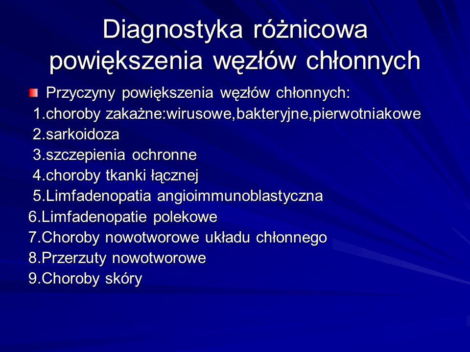 Diagnostyka różnicowa powiększenia węzłów chłonnych