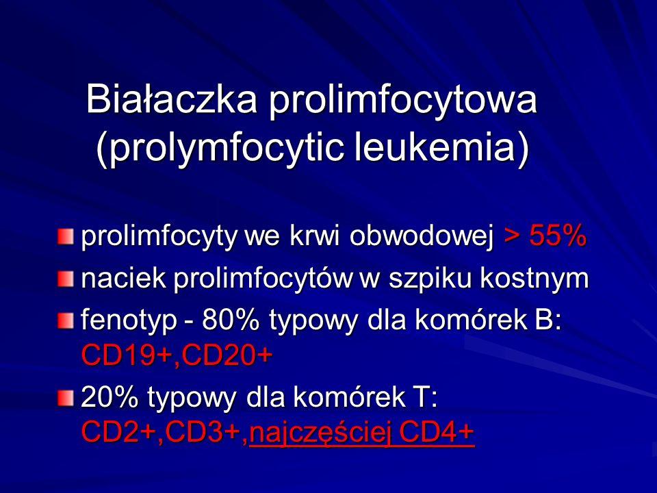 Białaczka prolimfocytowa (prolymfocytic leukemia)