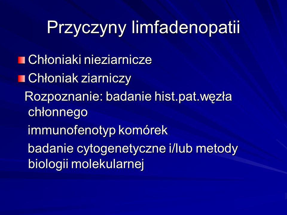 Przyczyny limfadenopatii