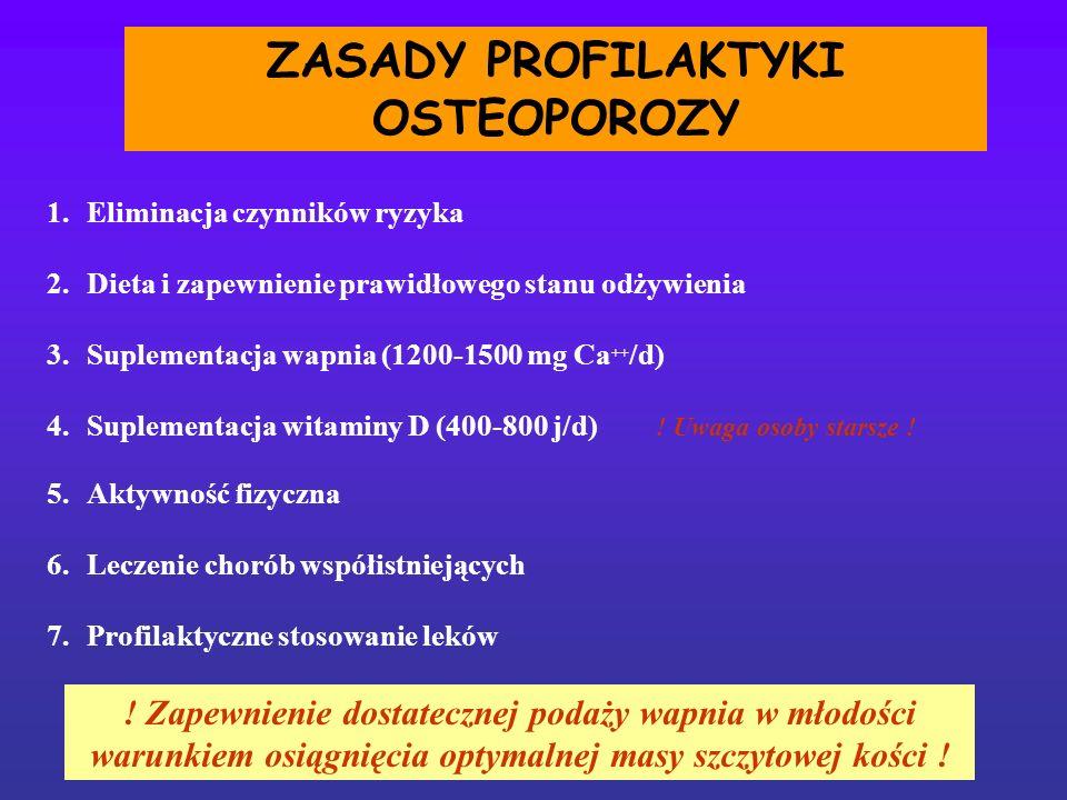ZASADY PROFILAKTYKI OSTEOPOROZY