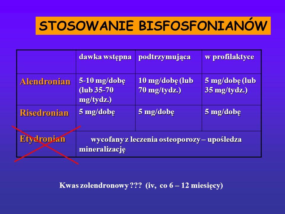 STOSOWANIE BISFOSFONIANÓW