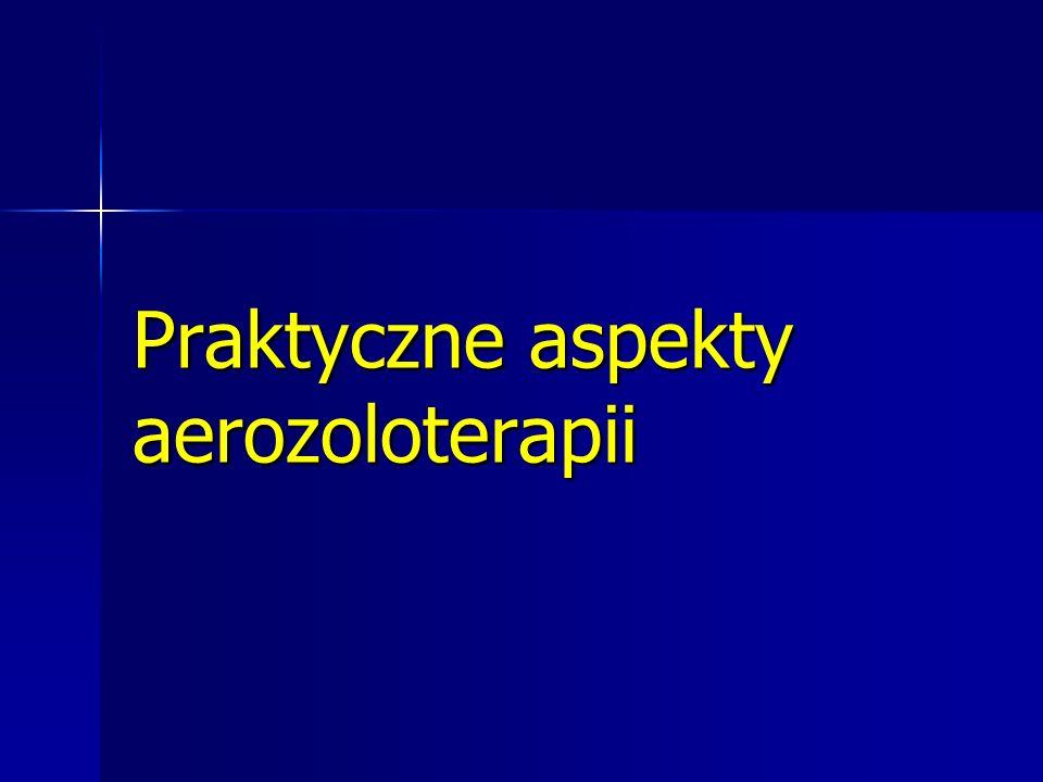 Praktyczne aspekty aerozoloterapii