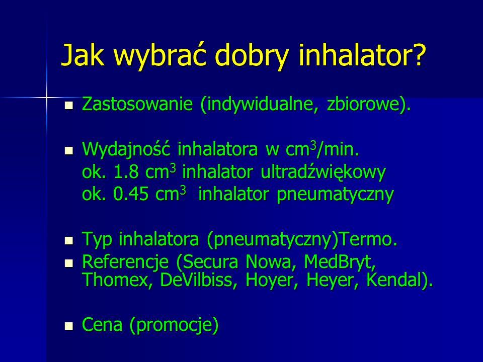 Jak wybrać dobry inhalator