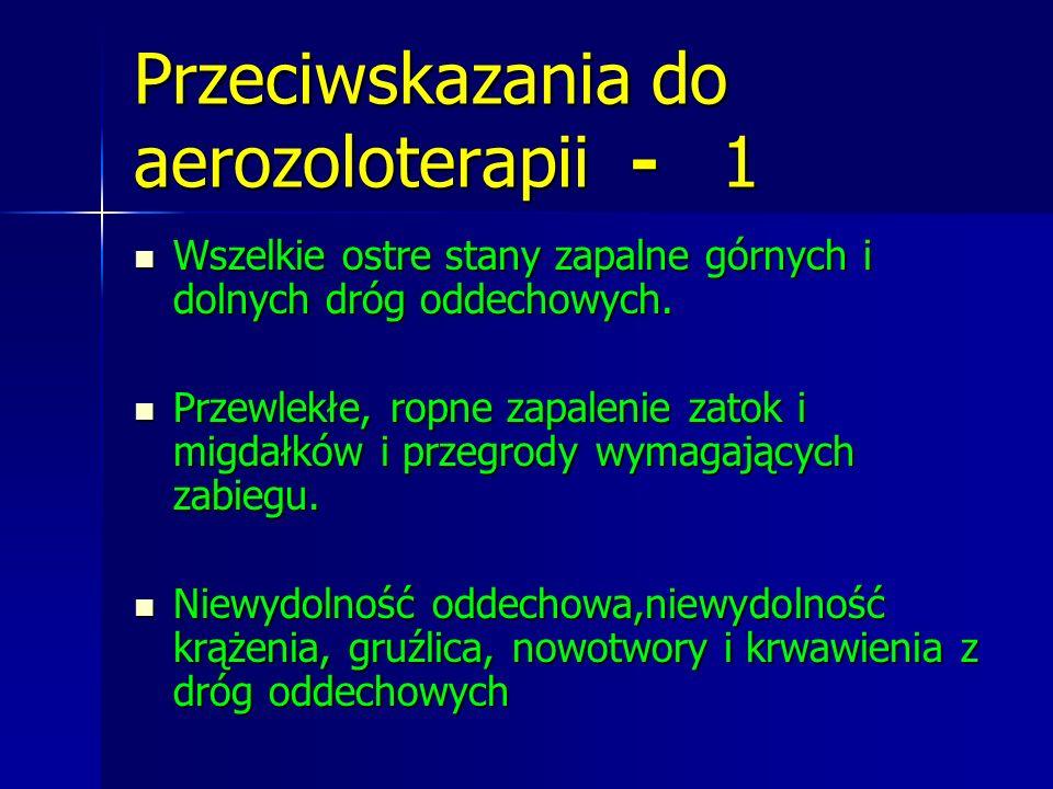Przeciwskazania do aerozoloterapii - 1