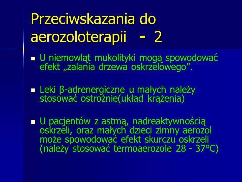 Przeciwskazania do aerozoloterapii - 2