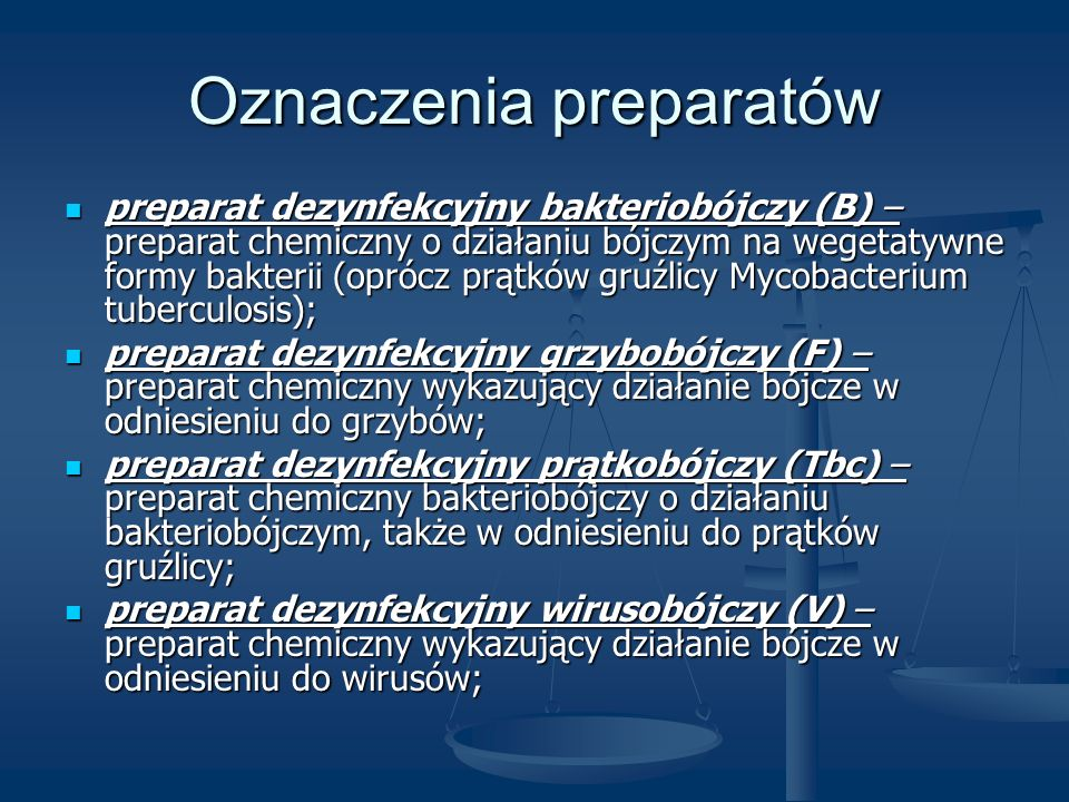 Oznaczenia preparatów