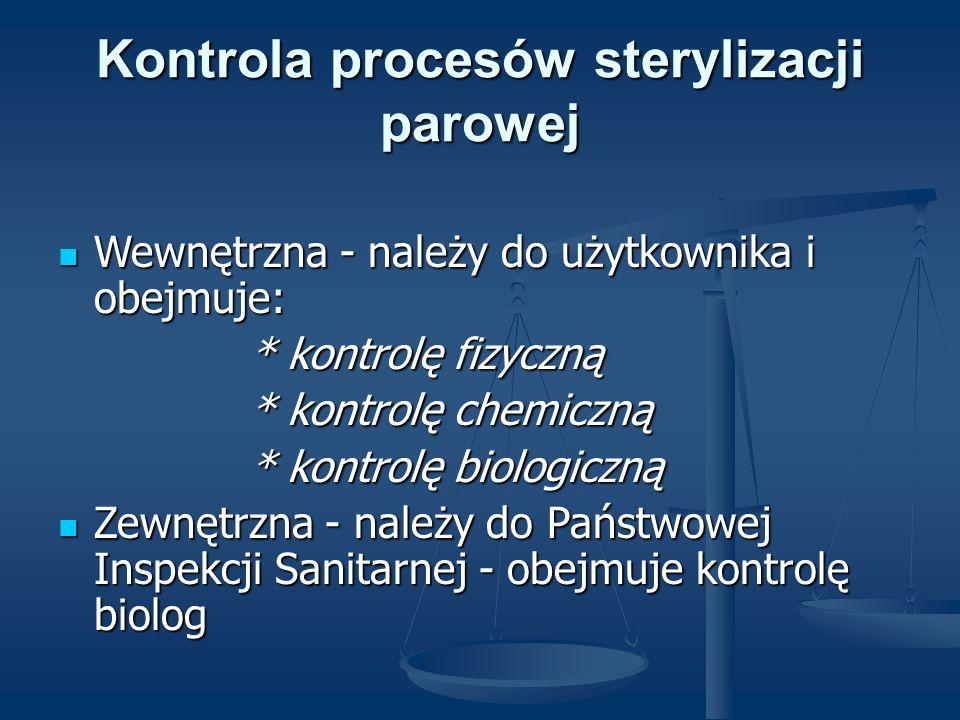 Kontrola procesów sterylizacji parowej