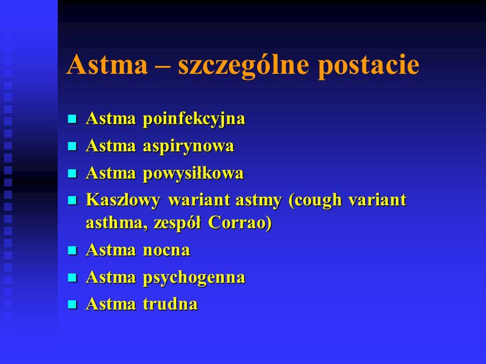 Astma – szczególne postacie
