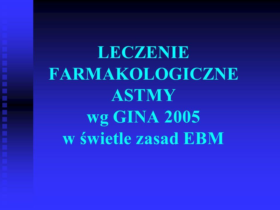 LECZENIE FARMAKOLOGICZNE ASTMY wg GINA 2005 w świetle zasad EBM