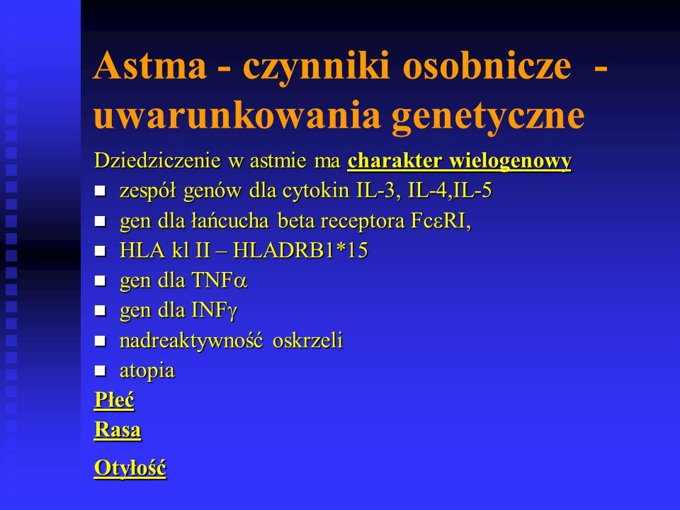 Astma - czynniki osobnicze - uwarunkowania genetyczne