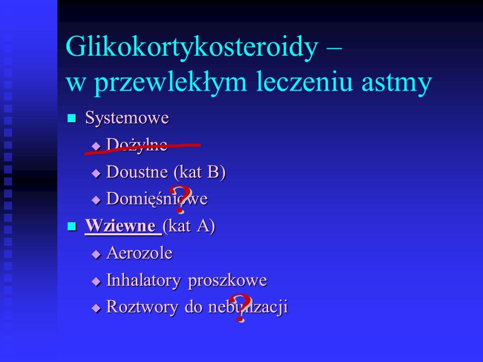 Glikokortykosteroidy – w przewlekłym leczeniu astmy