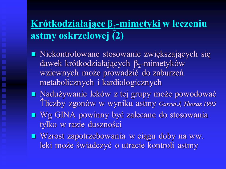 Krótkodziałające β2-mimetyki w leczeniu astmy oskrzelowej (2)