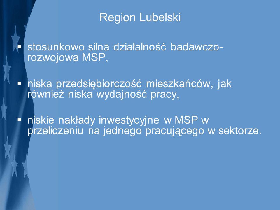 Region Lubelski stosunkowo silna działalność badawczo-rozwojowa MSP,