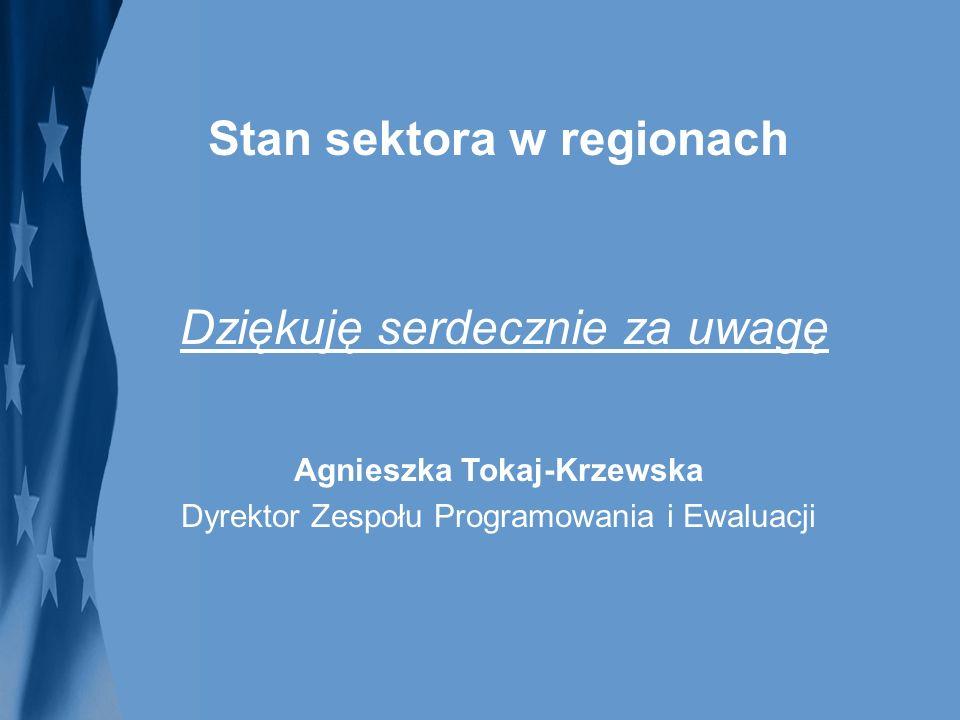 Stan sektora w regionach Agnieszka Tokaj-Krzewska