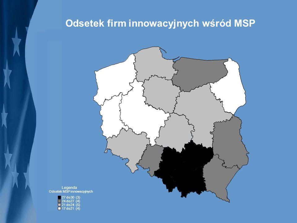 Odsetek firm innowacyjnych wśród MSP