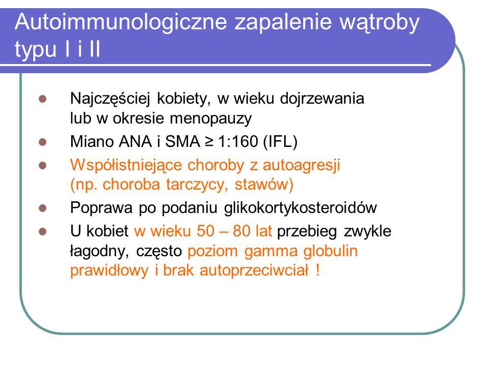 Autoimmunologiczne zapalenie wątroby typu I i II