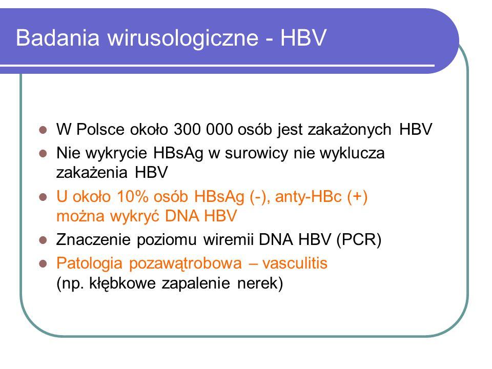 Badania wirusologiczne - HBV