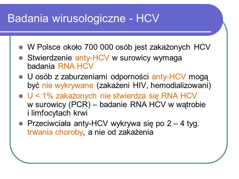 Badania wirusologiczne - HCV
