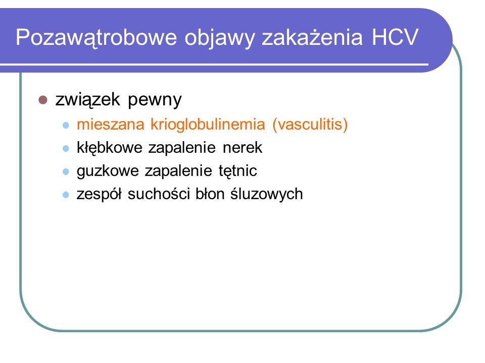 Pozawątrobowe objawy zakażenia HCV