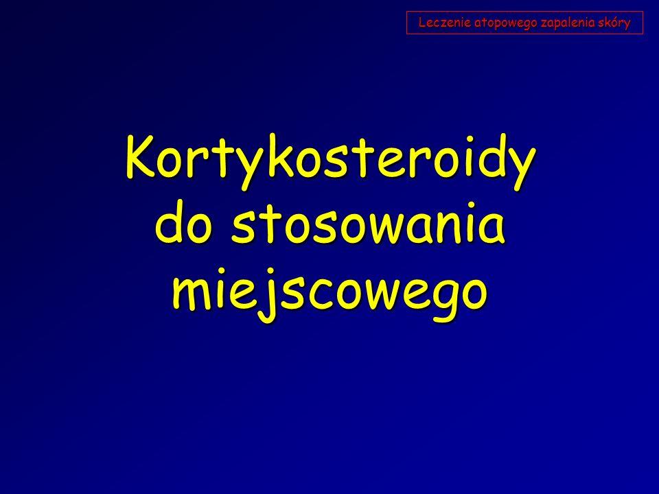 Kortykosteroidy do stosowania miejscowego