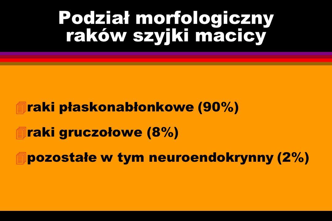 Podział morfologiczny raków szyjki macicy