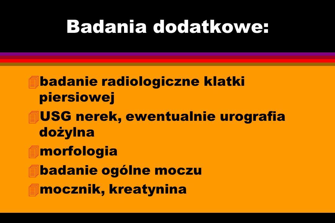 Badania dodatkowe: badanie radiologiczne klatki piersiowej