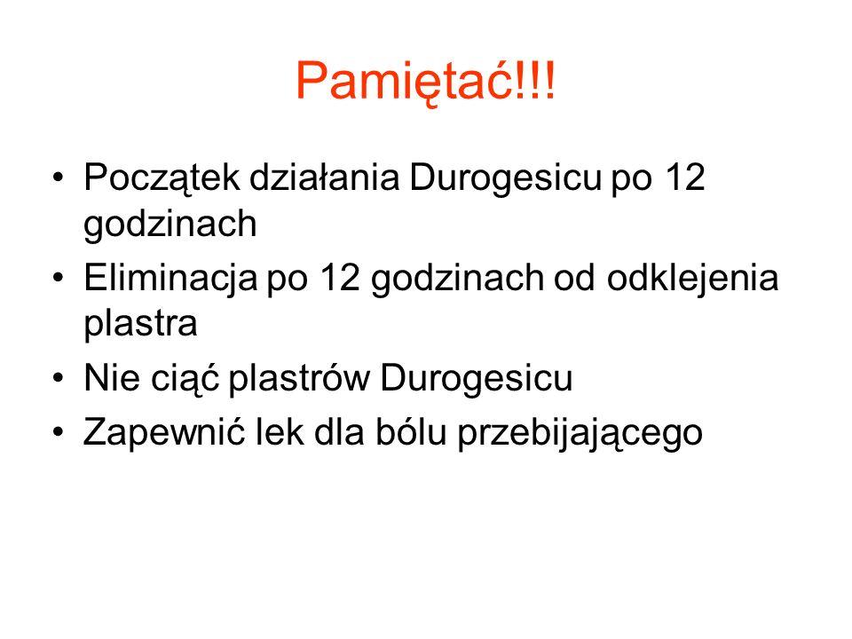 Pamiętać!!! Początek działania Durogesicu po 12 godzinach