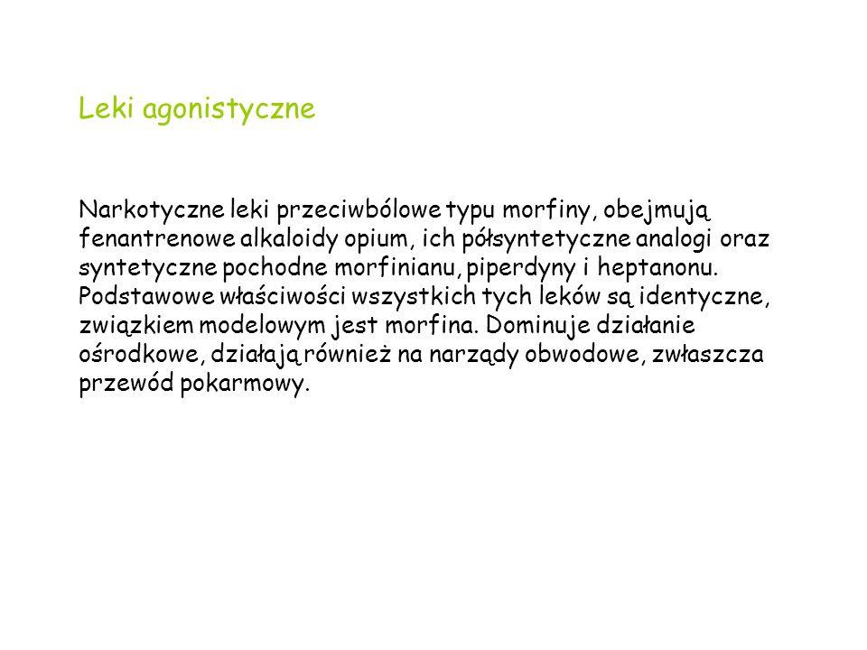 Leki agonistyczne