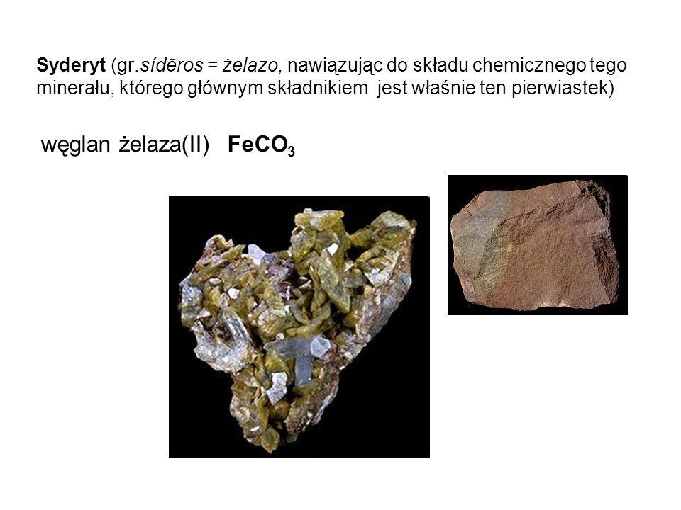 węglan żelaza(II) FeCO3