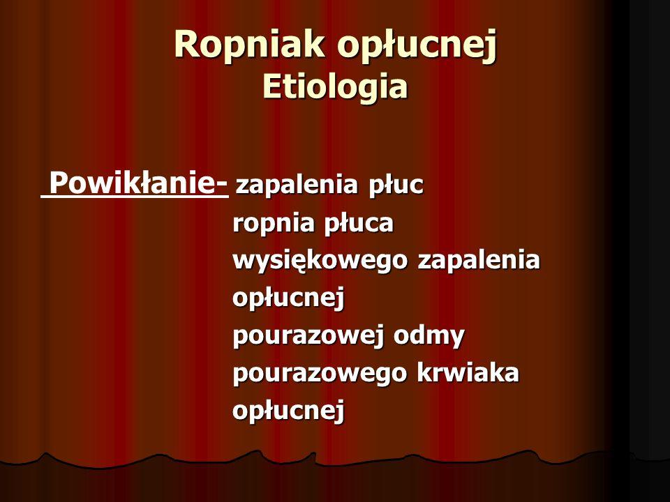 Ropniak opłucnej Etiologia