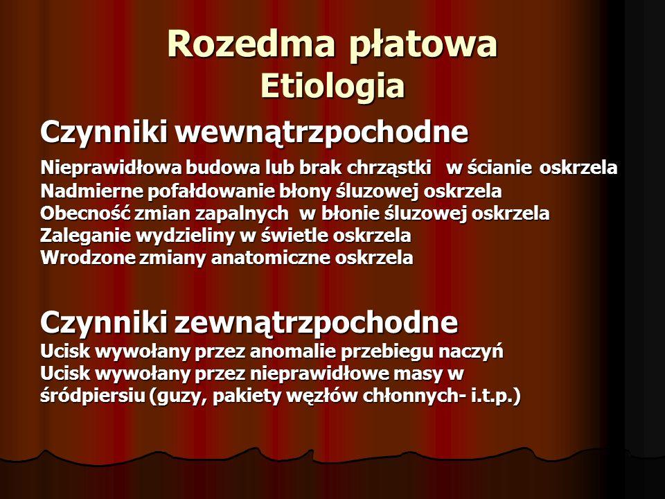 Rozedma płatowa Etiologia