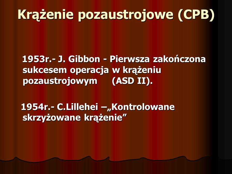 Krążenie pozaustrojowe (CPB)