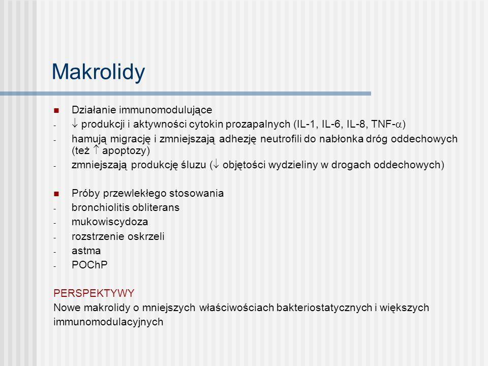Makrolidy Działanie immunomodulujące