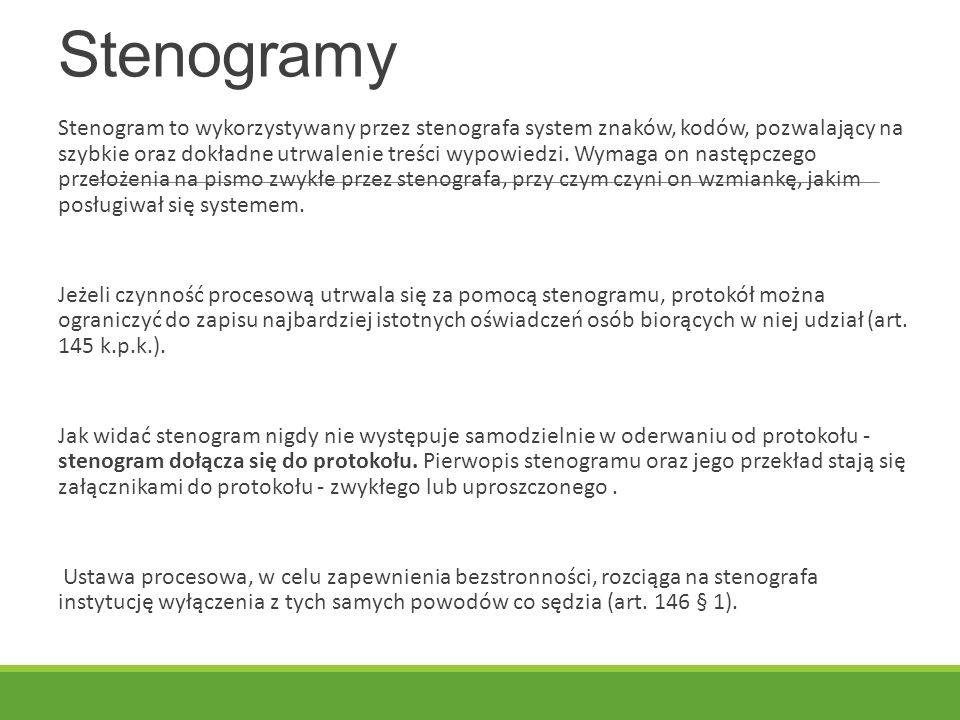 Stenogramy