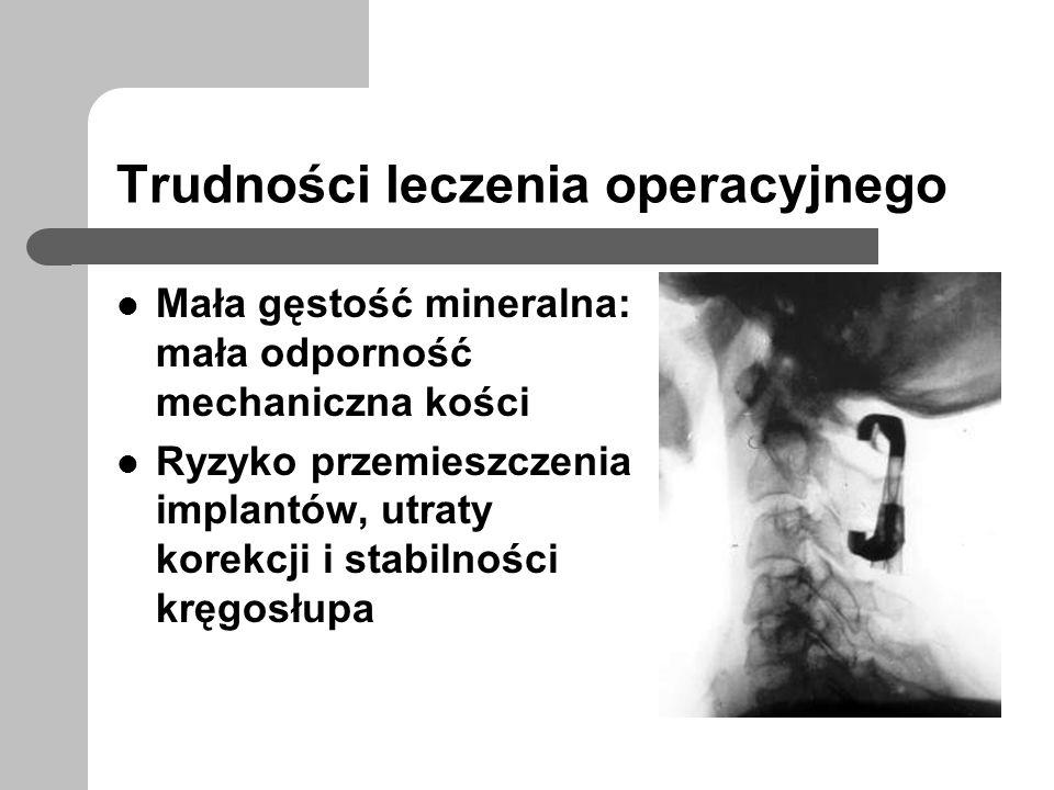Trudności leczenia operacyjnego