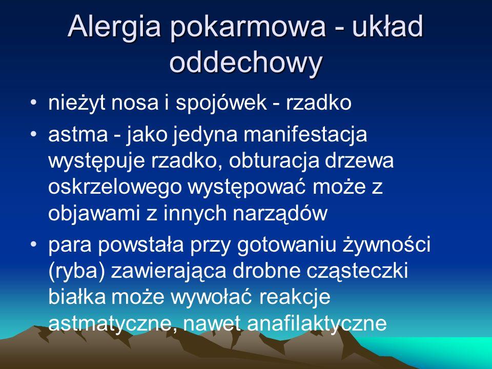Alergia pokarmowa - układ oddechowy