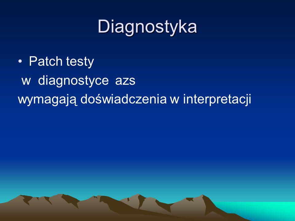 Diagnostyka Patch testy w diagnostyce azs