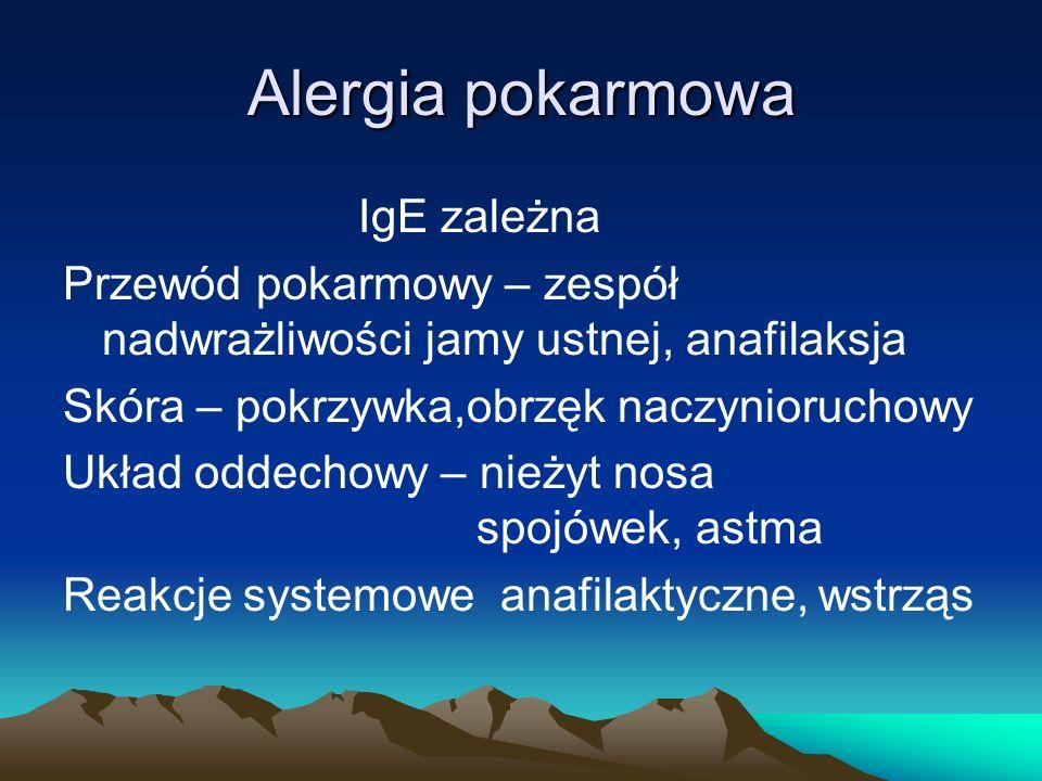Alergia pokarmowa IgE zależna