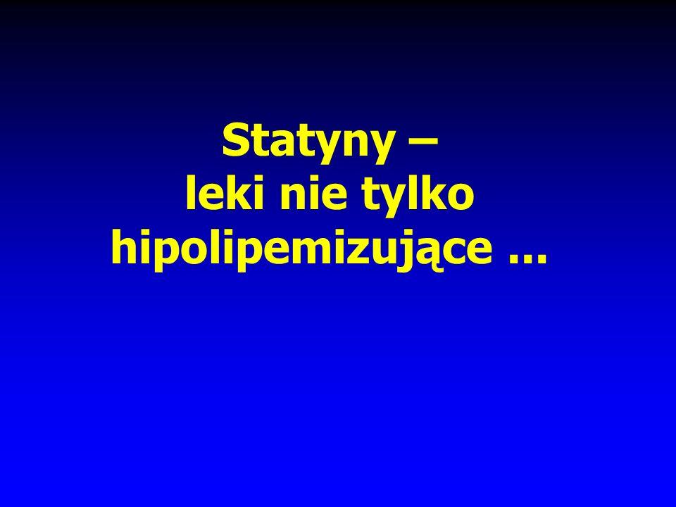 Statyny – leki nie tylko hipolipemizujące ...