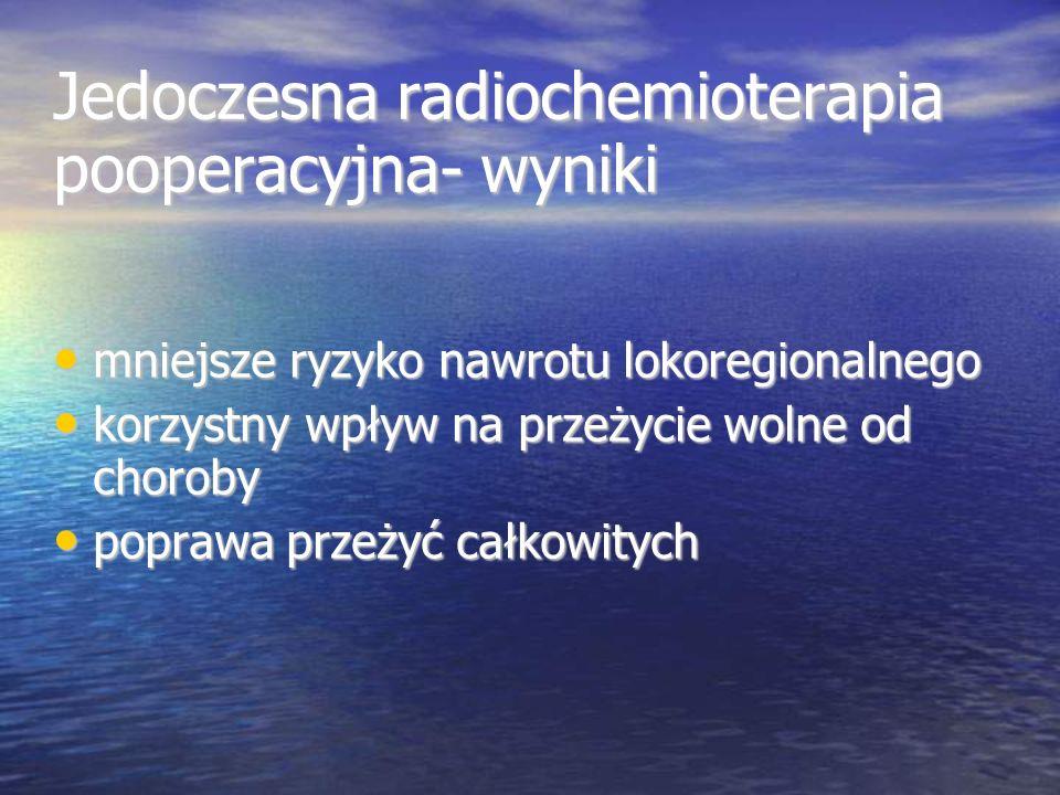 Jedoczesna radiochemioterapia pooperacyjna- wyniki