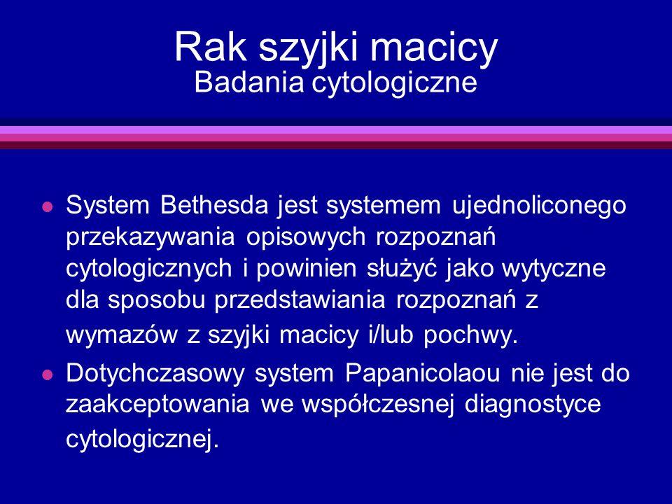 Rak szyjki macicy Badania cytologiczne