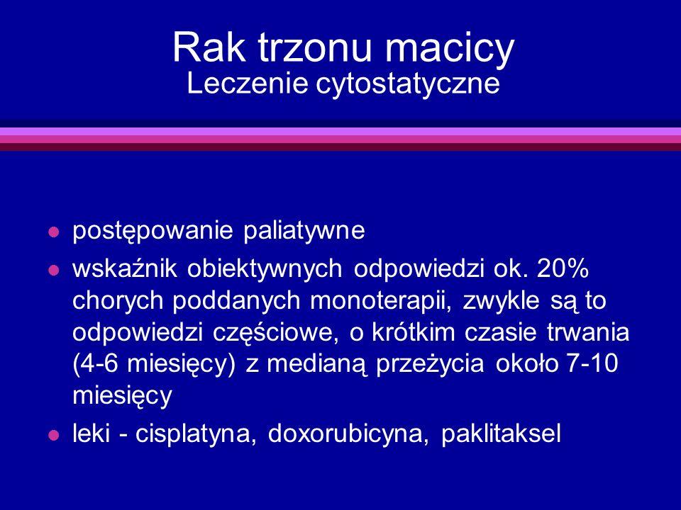 Rak trzonu macicy Leczenie cytostatyczne