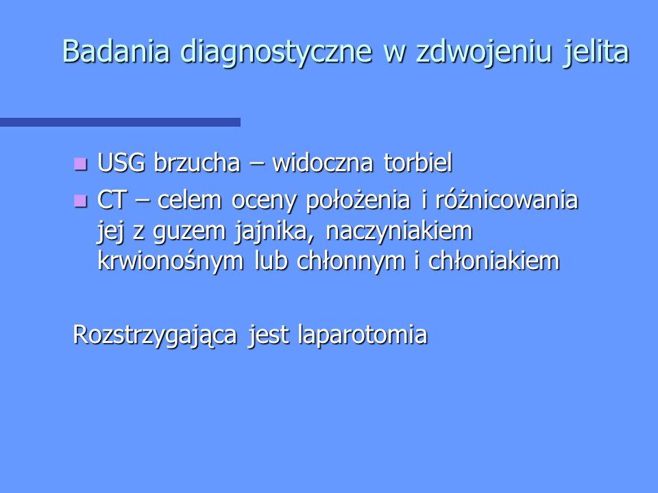 Badania diagnostyczne w zdwojeniu jelita