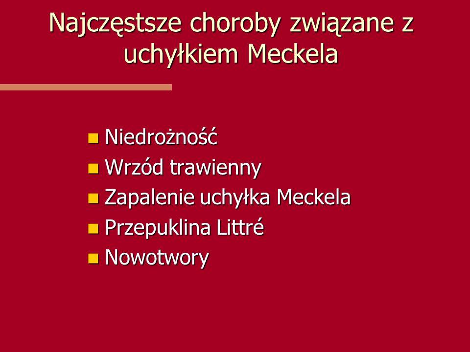Najczęstsze choroby związane z uchyłkiem Meckela